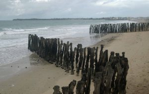 Beach front of Saint Malo