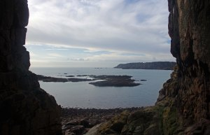 View out from La Cotte