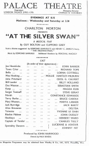 Palace Theatre programme from 1936